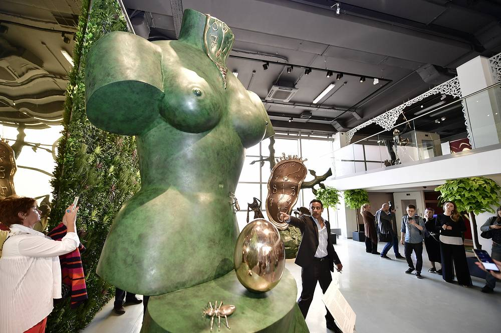 Space Venus on display at an exhibition of sculptures by Spanish surrealist Salvador Dali, held at the Erarta Museum of Contemporary Art in Saint Petersburg, May 23