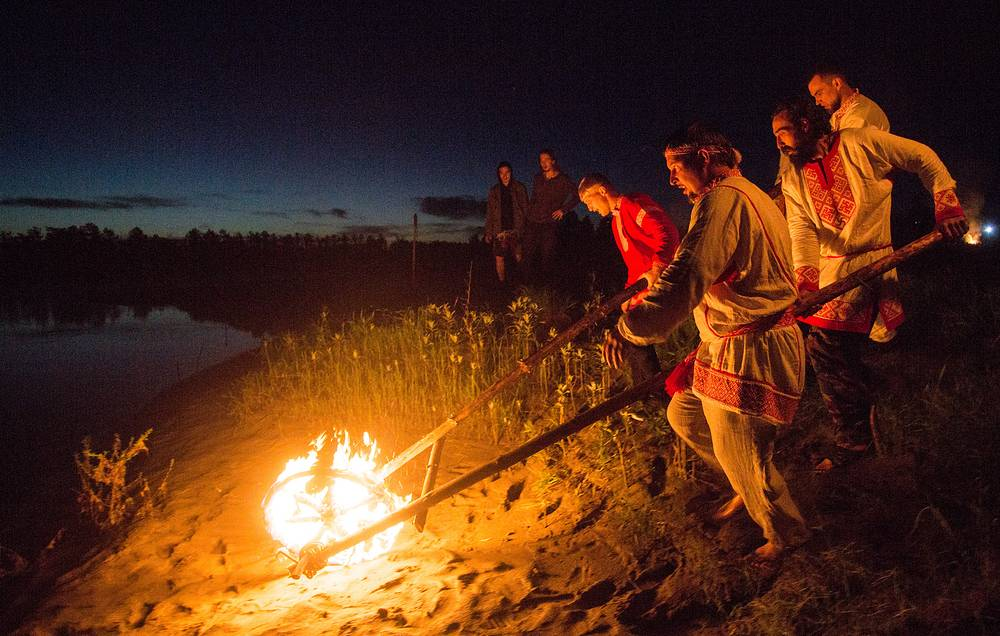 A summer solstice celebration in Omsk region