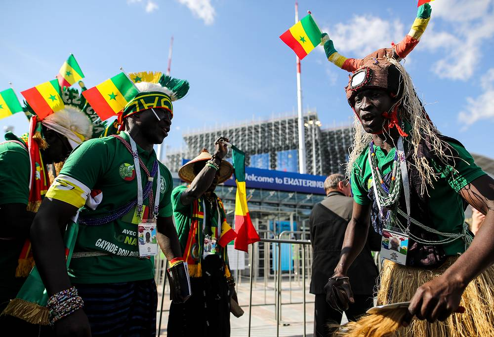 Supporters of the Senegalese football team