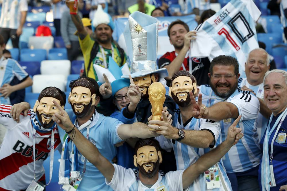 Argentina fans seen at Nizhny Novgorod Stadium
