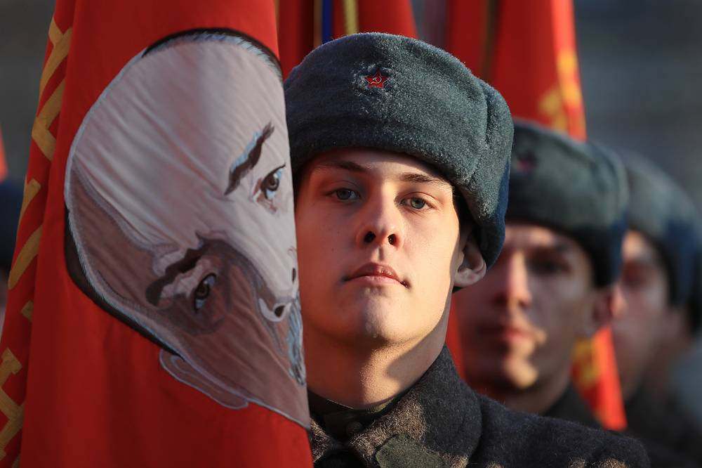 The first parade in almost besieged Moscow in 1941 represented the Soviet Union's first ideological victory over Nazi Germany