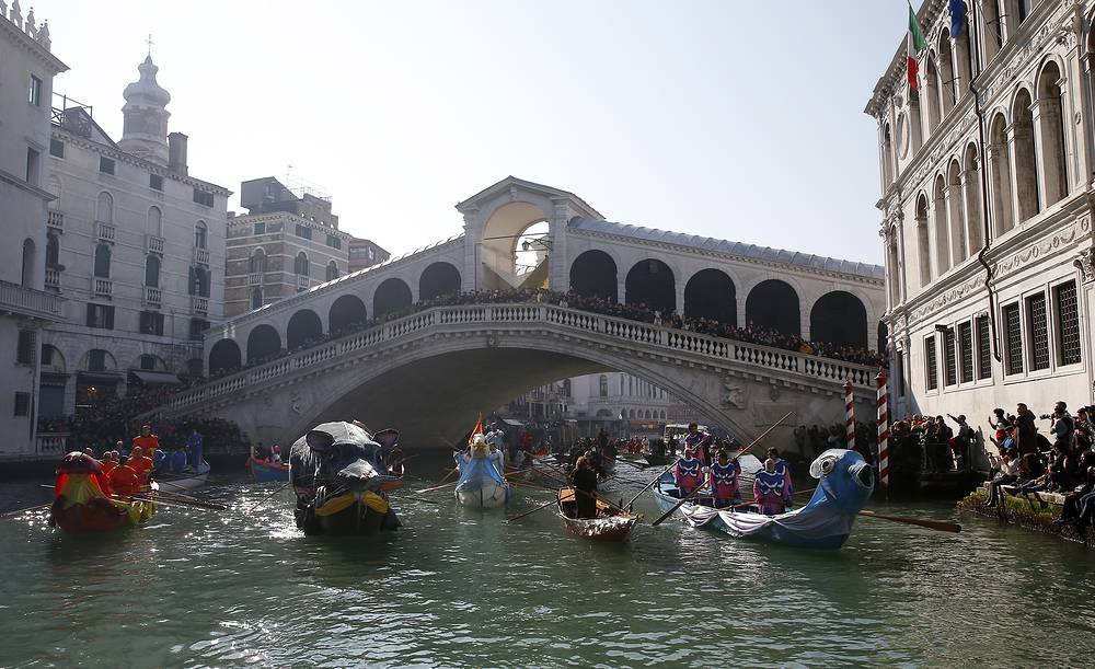 The Venice carnival in the historical lagoon city attracts people from around the world