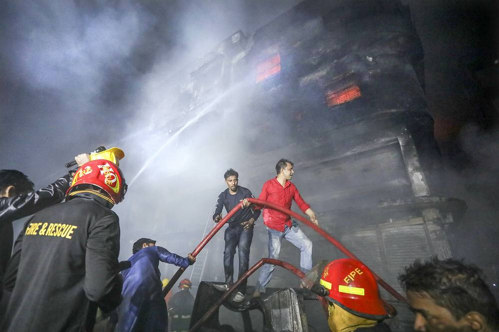 The death toll in the fire reached 81, the Bangladesh Observer newspaper reported