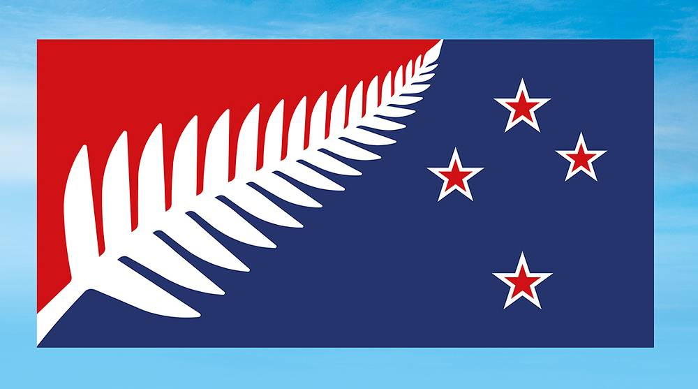 Silver Fern (Red, White and Blue)