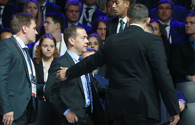 Medvedev, participants in Open Innovations forum leave confernce hall for security reasons
