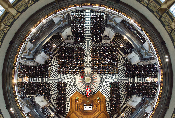 Funeral for Margaret Thatcher, former Prime Minister of Great Britain, at St Paul's Cathedral, London. April 17, 2013.