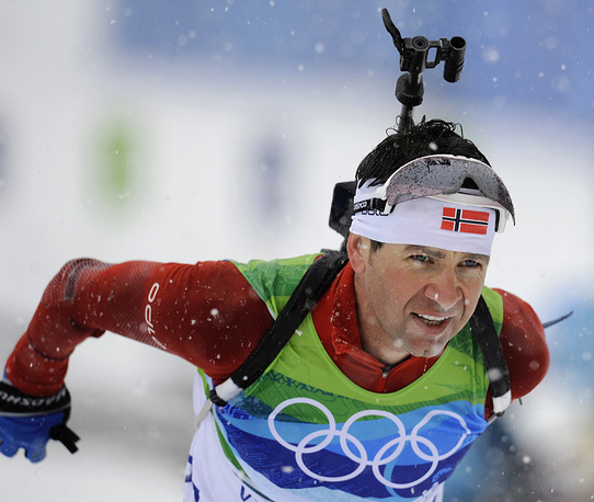 Ole Einer Bjorndalen at the Olympics in Canada, 2010