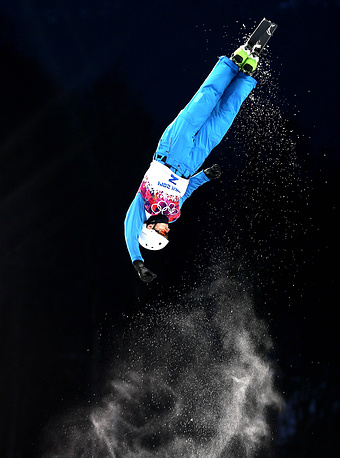 Belorussian Anton Kushnir won gold in men's aerials