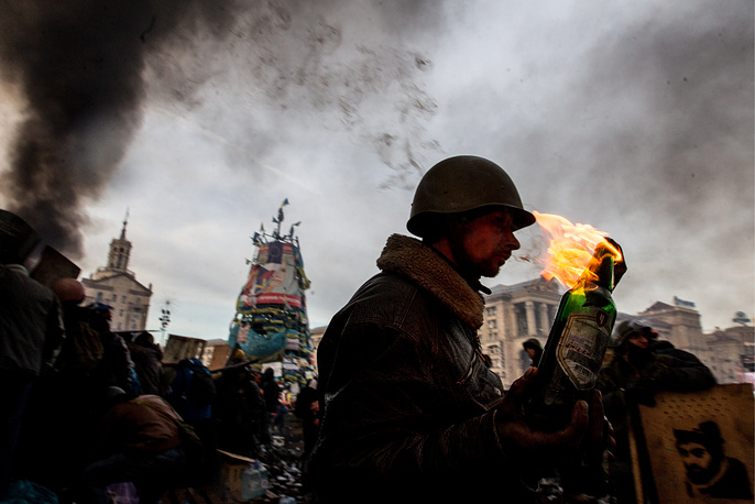 One of the most common weapons of the opposition radicals are Molotov cocktails