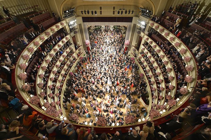 Vienna Opera Ball is held annually at the theater