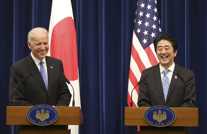 US Vice President Joe Biden and Japanese Prime Minister Shinzo Abe