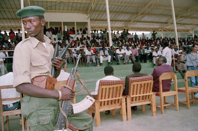 Soon after, with the participation of the Organisation of African Unity and the United Nations, a treaty was signed on formation of a transitional government where Tutsi had the majority, though a Hutu (Pasteur Bizimungu) became the President.