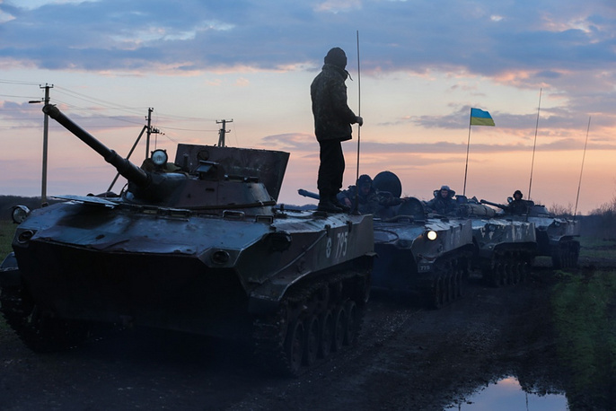 Ukrainian tanks heading for Sloviansk