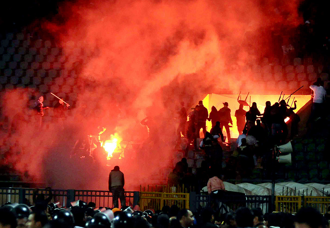 On 1 February 2012, a massive riot occurred at Port Said Stadium in Egypt