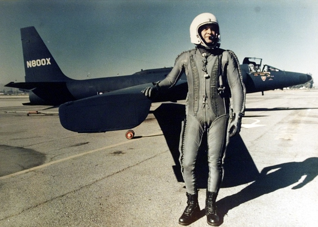 American pilot Francis Gary Powers, whose plane was hit over the Urals in 1960