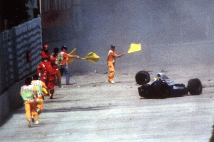 Senna died at a Bologna hospital after he crashed during the San Marino F-1 Grand Prix in Imola