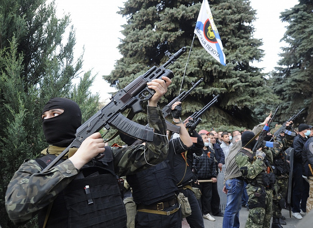 Supporters of federalization blocked the regional police office