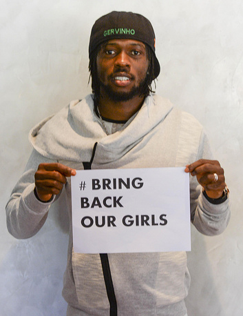 Many famous people also supported the media campaign. Photo: AS Roma player Gervinho
