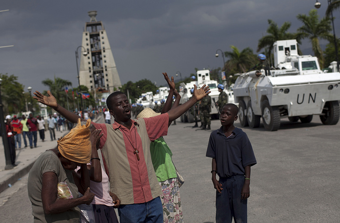 Mission in Haiti. In 2004 conflicts in Haiti resulted in a state coup