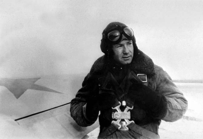 Alexei Leonov during training to become a pilot in 1956