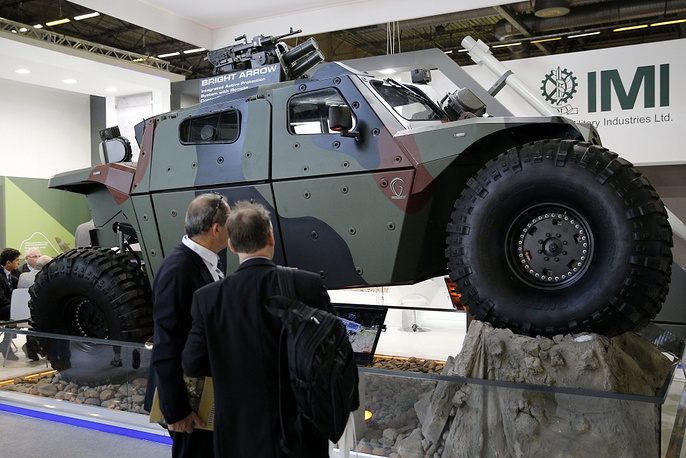 Military vehicle named 'Combatguard' made by Israeli manufacturer IMI