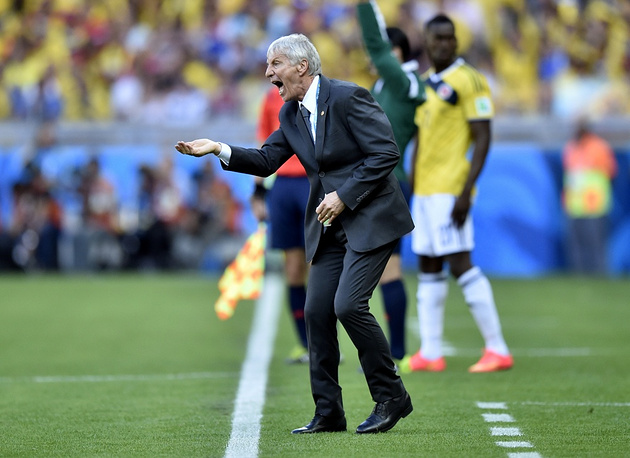 Columbia's coach Jose Pekerman