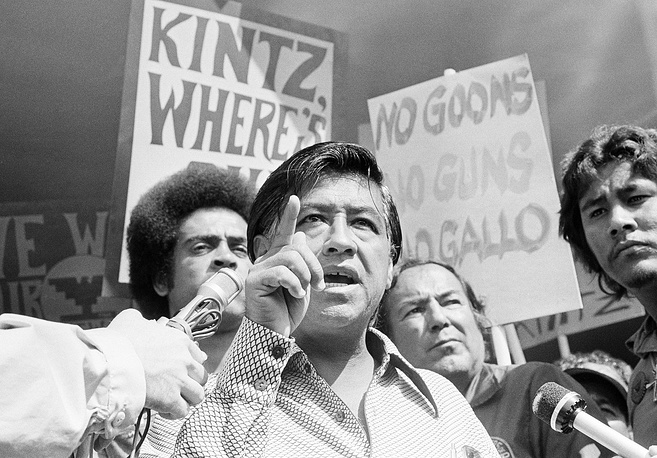 Mexican-American farmworker Cesar Chavez dedicated his life to winning recognition for the rights of agricultural workers. His accomplishments were recognized with the Presidential Medal of Freedom
