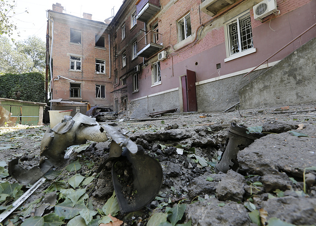 Consequences of shelling in Luhansk