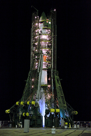 Soyuz-U carrier rocket launch
