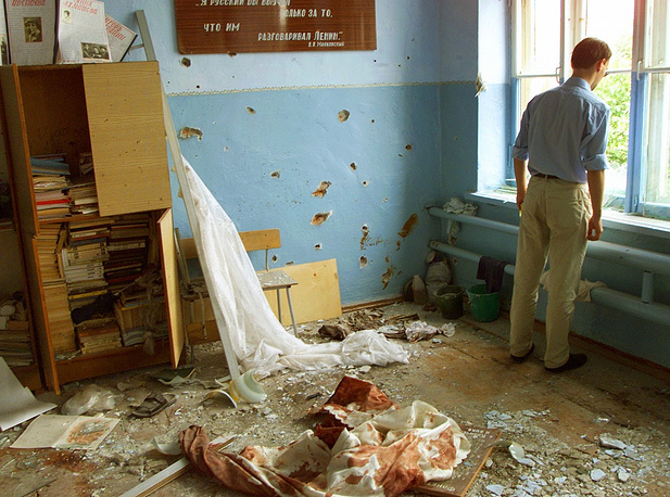 A classroom where hostages were shot, September 6, 2004