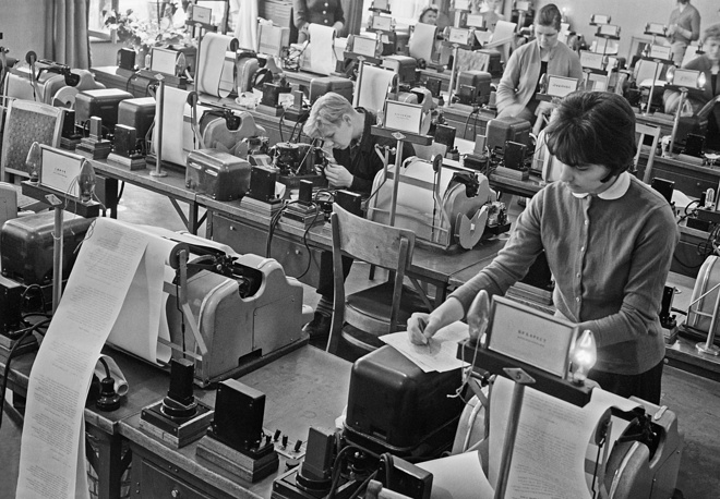 The teletype center, 1962