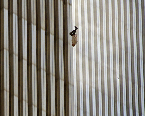 People were jumping down from the upper floors of the towers, preferring suicide to death from fire