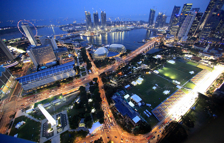 As Formula One changed throughout the years so did its venues. Photo:The Marina Bay Circuit, Singapore, September 22, 2009
