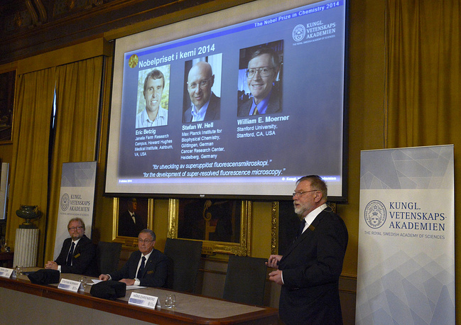 The Nobel Prize in Chemistry has been awarded to Americans Eric Betzig and William Moerner and German scientist Stefan Hell for improving the resolution of optical microscopes