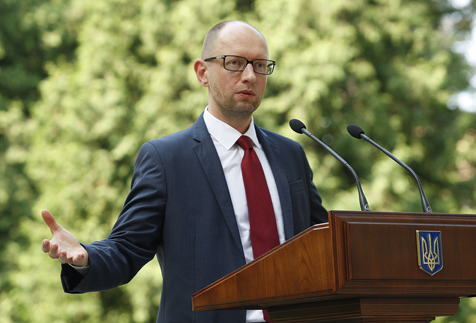 Leader of the People's Front party, acting Prime Minister Arseniy Yatsenyuk