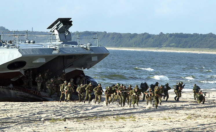 Russian Marines are the amphibious force of the Russian Navy. First Russian naval infantry force was formed in 1705