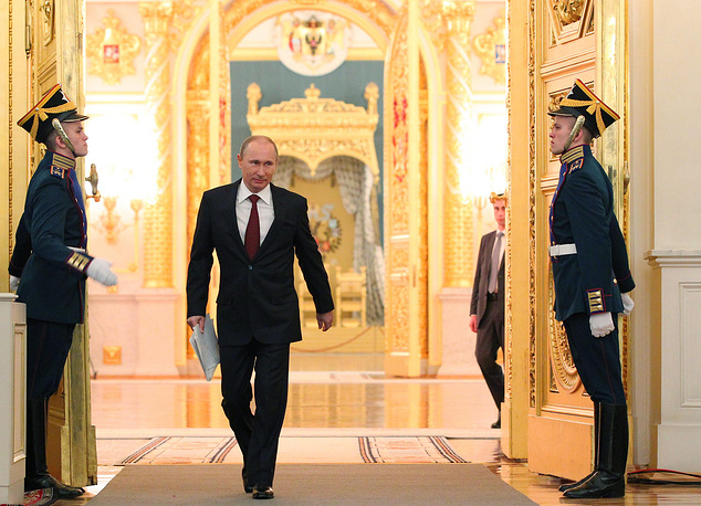Vladimir Putin delivered his first state-of-the-nation address after the reelection on Russia's Constitution Day, December 12, 2012