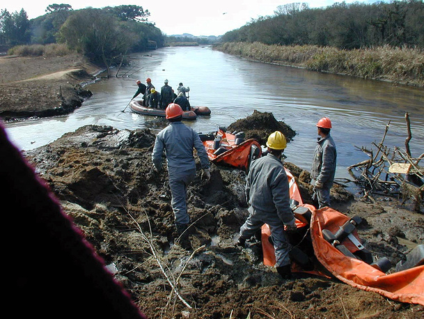 In July 2000 an accident occurred at Petrobras' oil refinery in Brazilian state of Parana. More than 1 million gallons of crude oil was spewed by the pipe into the Iguacu river which became country's worst oil spill in 25 years