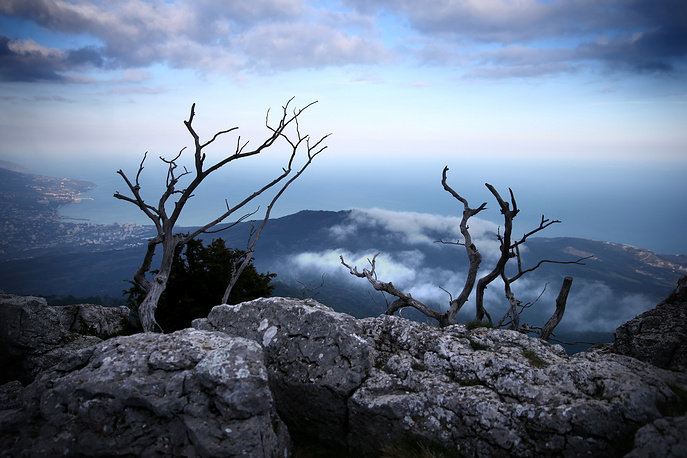 Landscape in the Crimean mountains