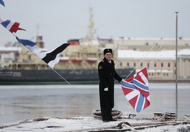 St. Andrew naval flag was hoisted on the submarine, from this moment it is considered officially taken into combat service of the domestic Navy