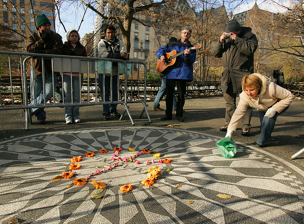 Strawberry Fields memorial in New Yorks Central Park, USA