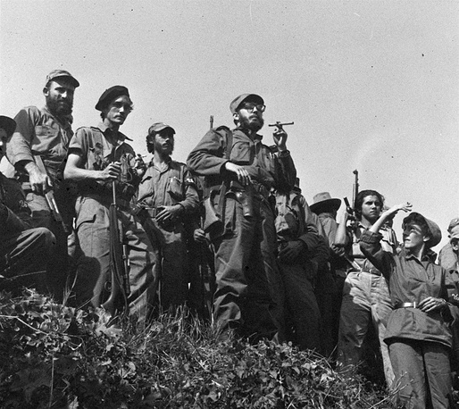 The Cuban revolution triumphed on January 1, 1959 after dictator Fulgencio Batista fled the country and Fidel Castro and his allies took the power in the state. Photo: Fidel Castro and his soldiers