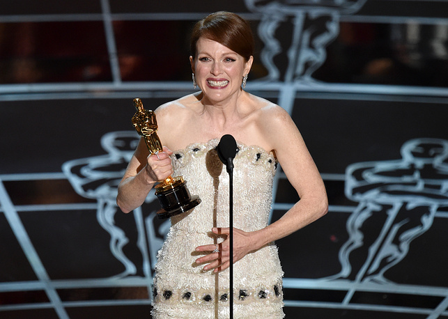 """Julianne Moore won the Academy Award for best actress in a leading role for """"Still Alice"""""""