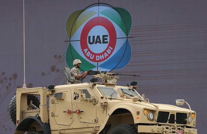 Mine resistant ambush protected vehicle M-ATV at the IDEX-2015