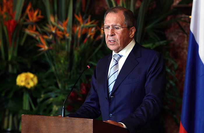 Russian Foreign Minister Sergey Lavrov visited four Latin American countries, Cuba, Colombia, Nicaragua and Guatemala, on March 24-26. Photo: Sergey Lavrov at a press conference at the Colombian Foreign Ministry after his meeting with Colombian President Juan Manuel Santos in Bogota