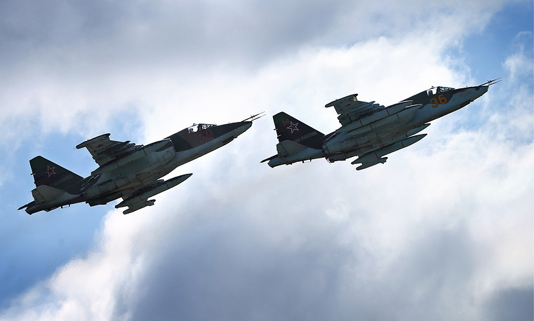 Su-25 attack aircraft in the air
