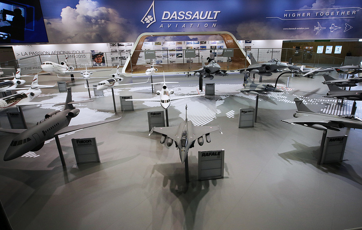 Dassault stand at the Paris Air Show-2015