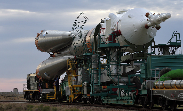 The Soyuz spacecraft is launched on a Soyuz rocket, which is the most frequently used launch vehicle in the world