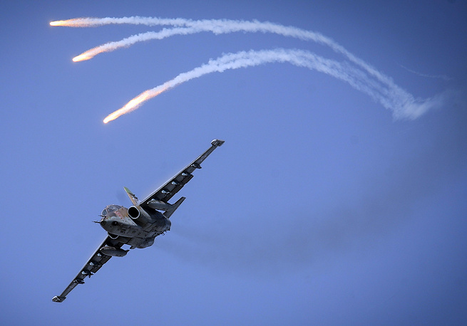 Su-25 aircraft was developed by the Sukhoi Design Bureau to provide close air support for the Soviet Ground Forces