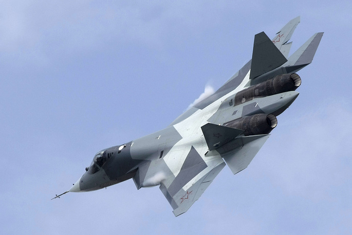 T-50 jet fighter was created by the Sukhoi Design Bureau for the fifth-generation fighter programme of the Russian Air Force, known as PAK FA (Prospective Airborne Complex of Frontline Aviation). The aircraft will enter service in 2016